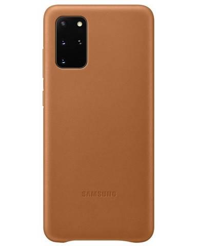 Kryt na mobil Samsung Leather Cover na Galaxy S20+ hnedý