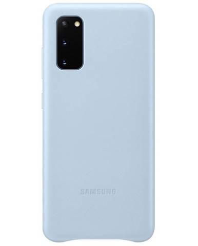 Kryt na mobil Samsung Leather Cover na Galaxy S20 modrý