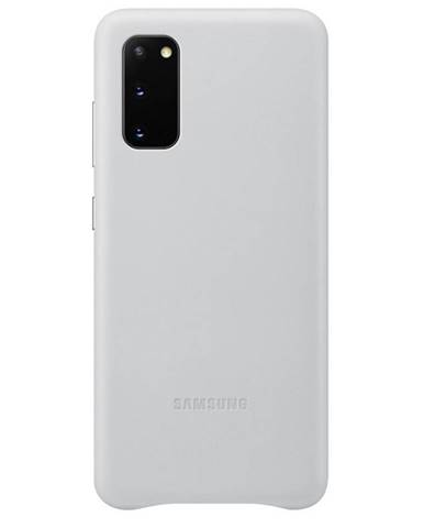 Kryt na mobil Samsung Leather Cover na Galaxy S20 sivý
