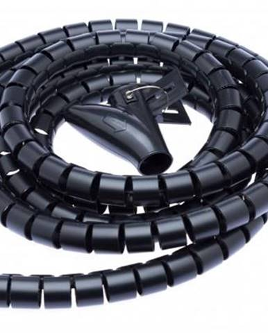 Trubice pro kabely Connect IT Winder, 2,5m x 20mm - černý