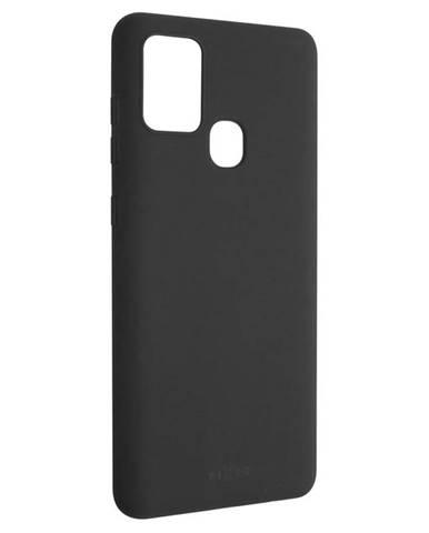 Kryt na mobil Fixed Story na Samsung Galaxy A21s čierny