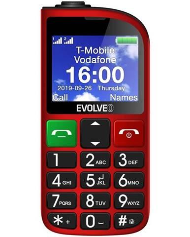 Mobilný telefón Evolveo EasyPhone FM červený