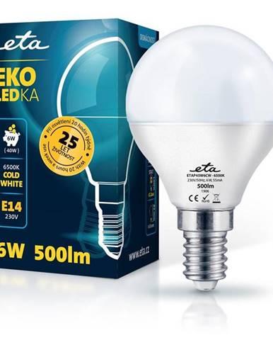 LED žiarovka ETA EKO LEDka mini globe 6W, E14, studená biela