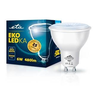 LED žiarovka ETA EKO LEDka bodová 6W, GU10, studená biela