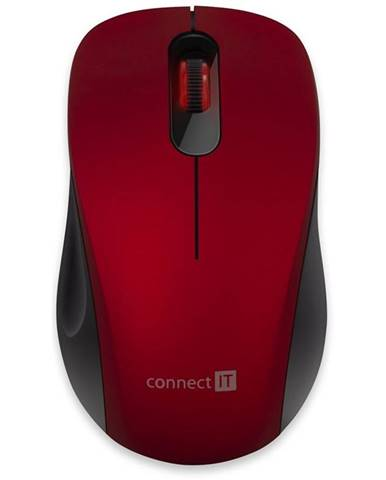Myš  Connect IT Mute červená
