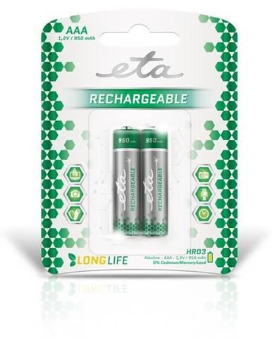 Batéria nabíjacie ETA AAA, HR03, 950mAh, Ni-MH, blistr 2ks