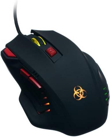 Myš  Connect IT Biohazard čierna / optická / 7 tlačítek / 3200dpi