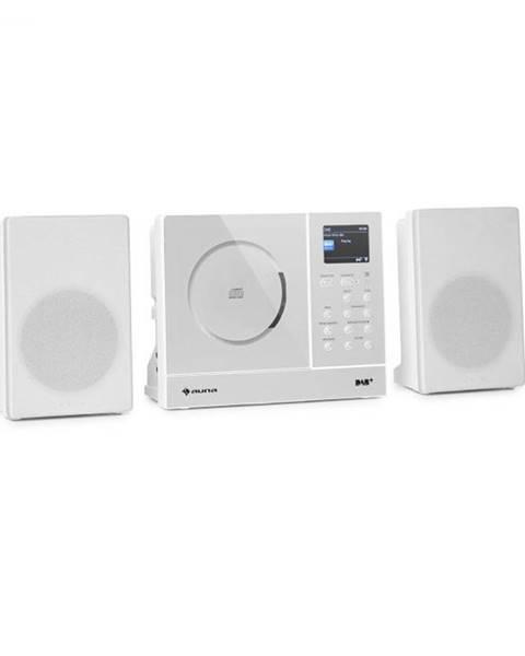 Auna Auna Connect Vertical, internetové rádio, 2x5 W RMS, CD, IR/FM/DAB+, Spotify, BT, biele
