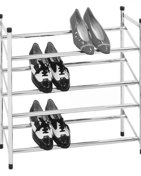 Tempo Kondela 4-radový nastaviteľný botník chróm DITA