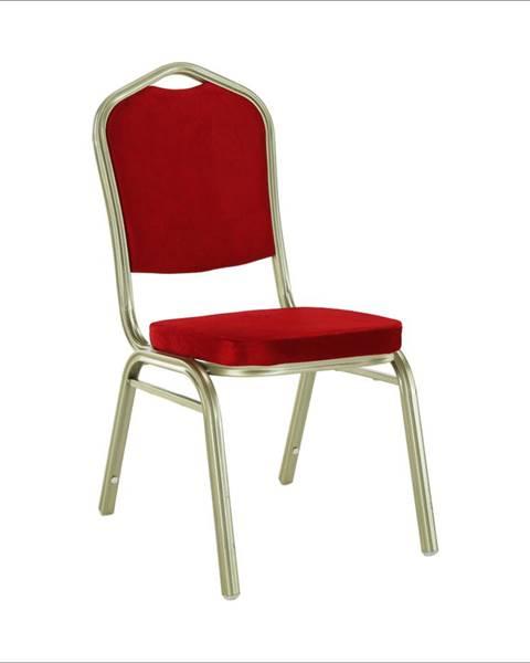 Tempo Kondela Stohovateľná stolička bordová/champagne ZINA 2 NEW