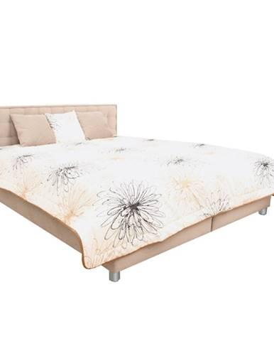 Manželská posteľ svetlohnedá/vzor 160x200 BORI