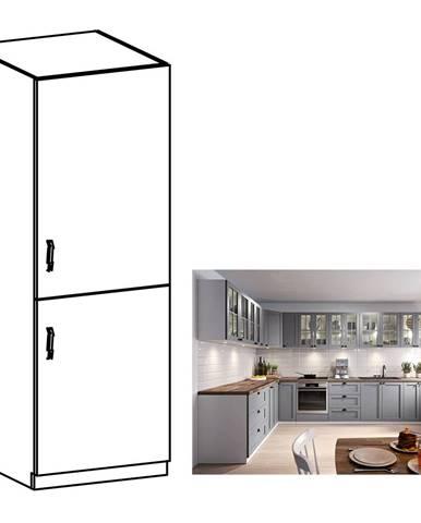 Skrinka na vstavanú chladničku sivá matná/biela pravá LAYLA D60ZL