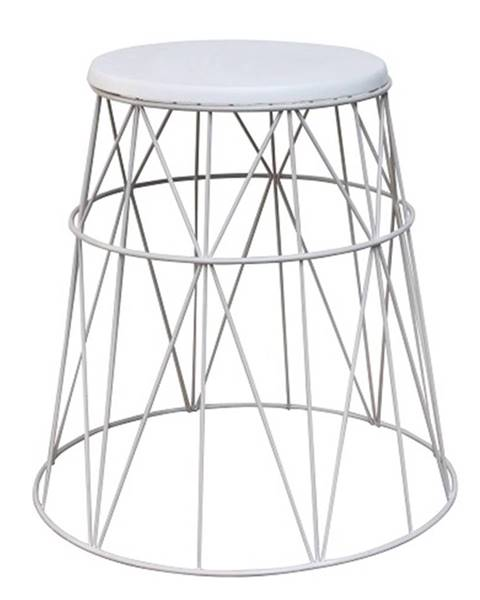 Kondela Príručný stolík biela LAVON