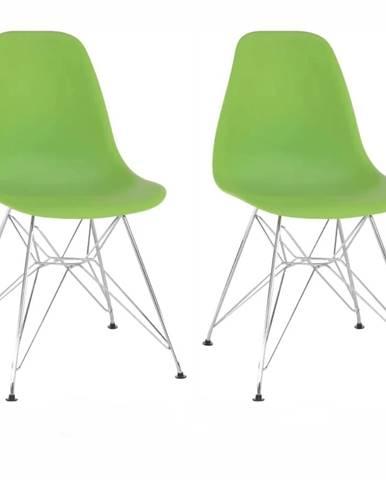 2 kusy stolička zelená ANISA 2 NEW