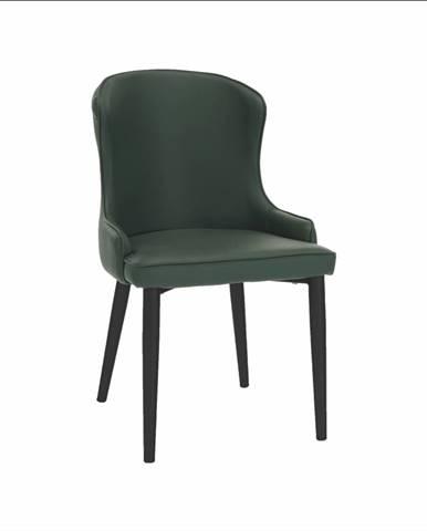 Jedálenská stolička zelená/čierna SIRENA