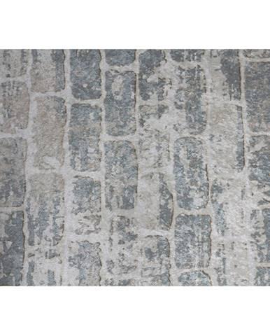 Koberec sivá/vzor tehla 80x200 MURO