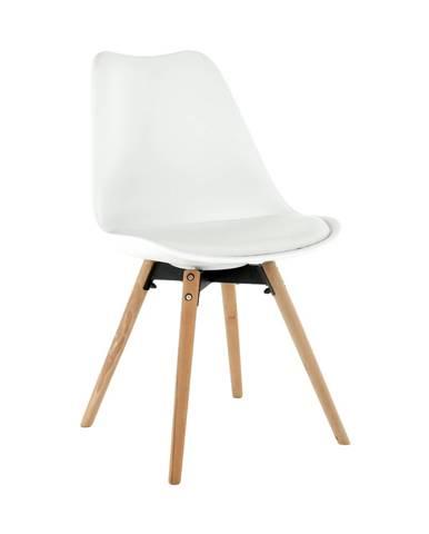 Stolička biela/buk SEMER NEW