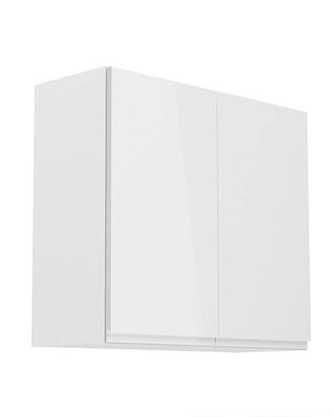 Tempo Kondela Horná skrinka biela/biely extra vysoký lesk AURORA G80
