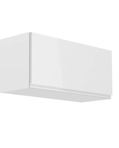 Horná skrinka biela/biely extra vysoký lesk AURORA G80K