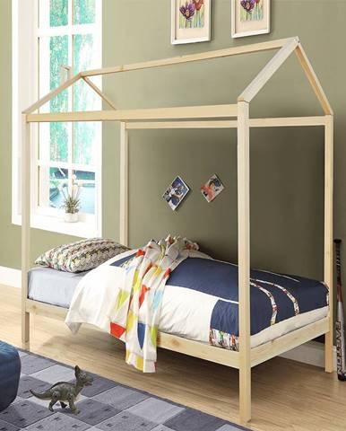 Montessori posteľ borovicové drevo prírodná ATIMAD