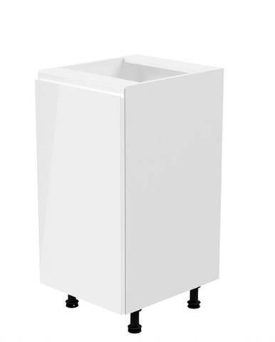 Spodná skrinka biela/biela extra vysoký lesk ľavá AURORA D40