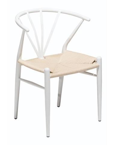 Biela jedálenská stolička DAN–FORM Denmark Delta