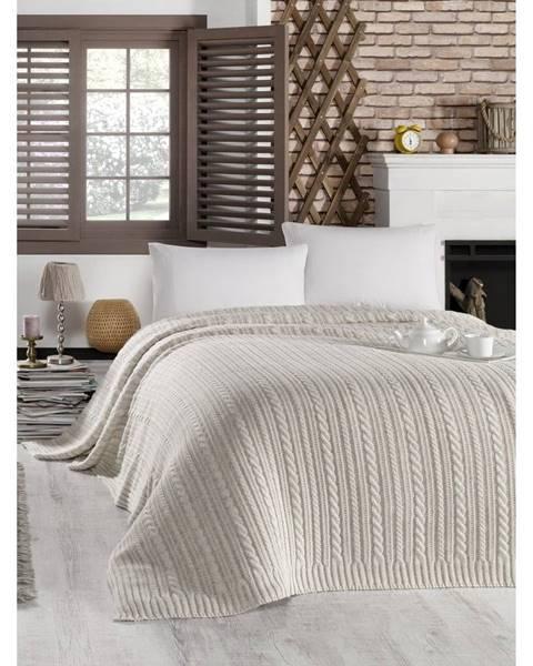 Homemania Svetlosivá prikrývka cez posteľ Camila, 220 x 240 cm