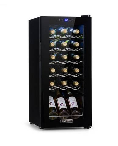 Klarstein Shiraz 18 Slim Uno, vinotéka, 50 l, 18 fliaš, dotyková, 138 W, 5 – 18 °C, čierna