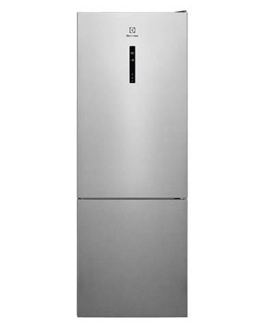 Kombinácia chladničky s mrazničkou Electrolux Lnt7me46x2 siv