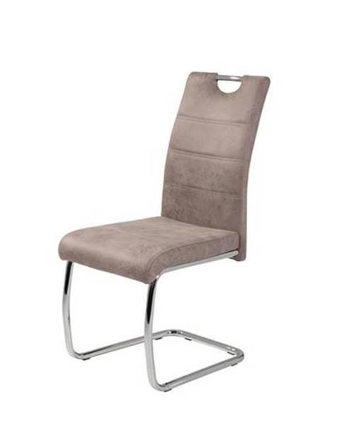 Sconto Jedálenská stolička FLORA S béžová, mikrovlákno