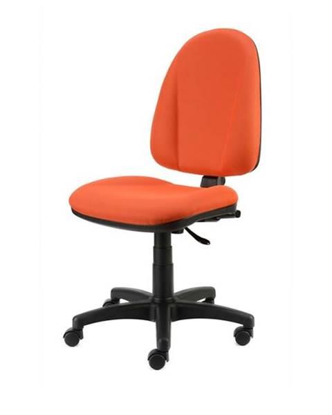Sconto Kancelárska stolička DONA oranžová