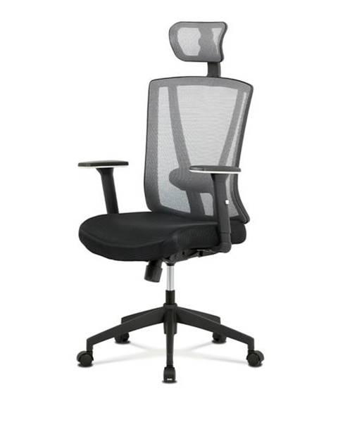 Sconto Kancelárska stolička EDWARD čierna/sivá