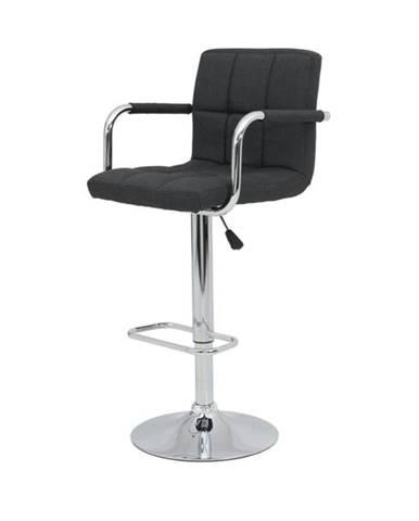 Barová stolička GLORIA H čierna/chróm