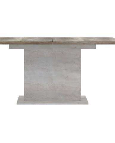 Jedálenský stôl DURO pínia biela/dub antik