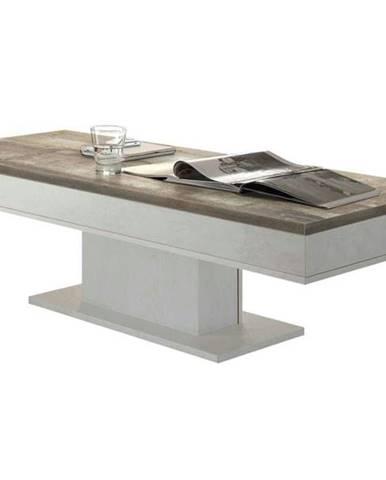 Konferenčný stolík GRANNY 120 DUB dub biely/dub vintage