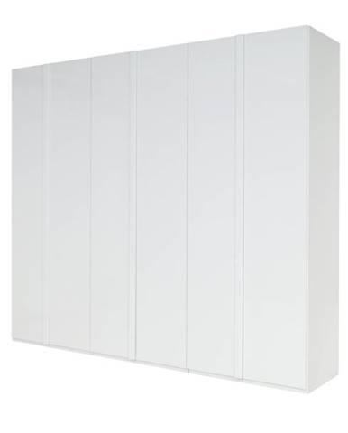 Šatníková skriňa GENUA biela, šírka 270 cm
