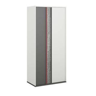 Šatníková skriňa PHILOSOPHY PH-2 biela/grafit