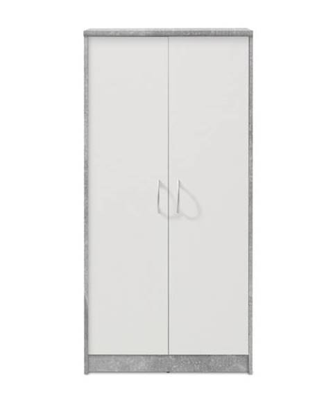 Sconto Skriňa OPTIMUS 70-001 beton/biela