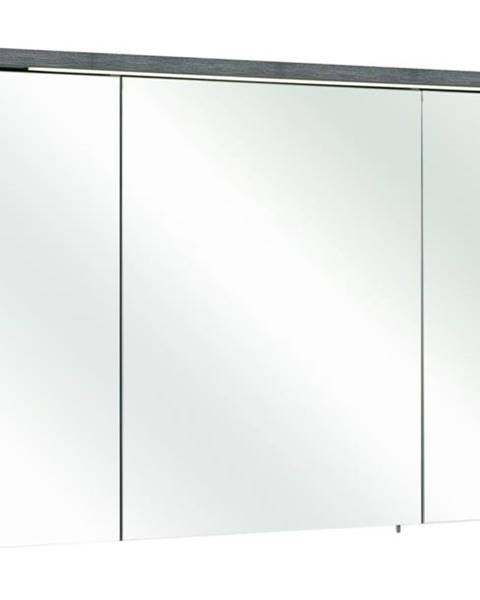 Sconto Zrkadlová skrinka ALICA grafit štruktúrovaný/zrkadlo