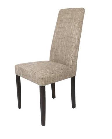 Jedálenská stolička CAPRICE cappucino/tmavo hnedá