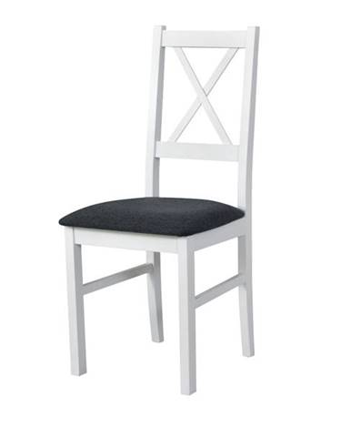 Jedálenská stolička NILA 10 tmavosivá/biela
