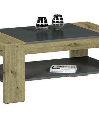 Konferenčný stolík CLEVELAND dub artisan/sivá