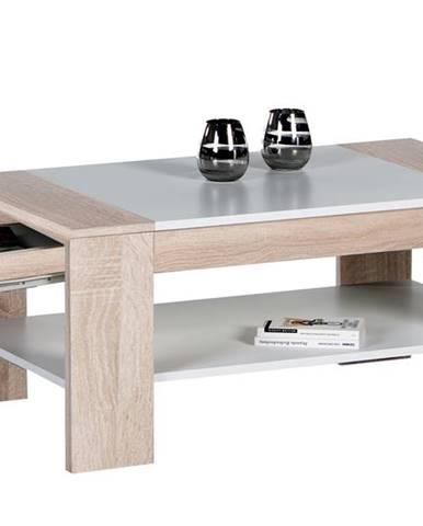 Konferenčný stolík FINLEY PLUS dub sonoma/biela