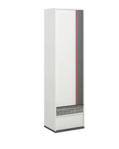 Šatníková skriňa PHILOSOPHY PH-03 biela/grafit