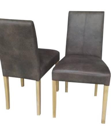 Jedálenská stolička HANAU dub wotan/hnedá