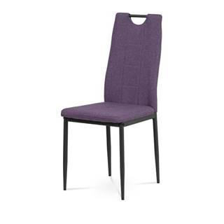 Jedálenská stolička LEILA fialová/antracit