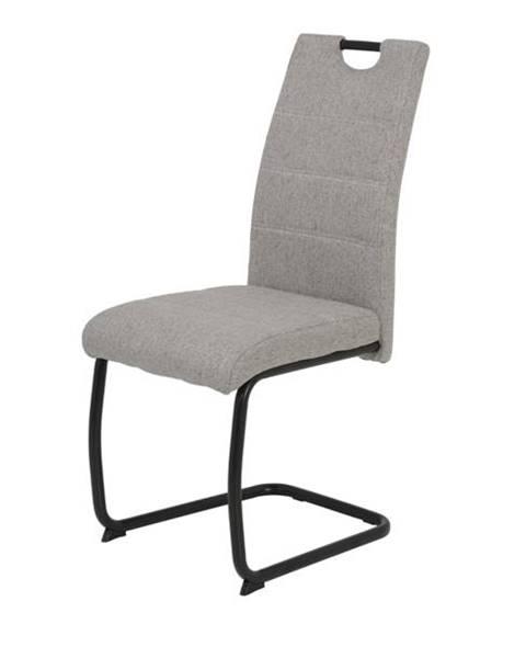 Sconto Jedálenská stolička FLORA S svetlosivá, mikrovlákno