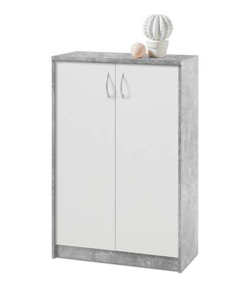 Sconto Komoda OPTIMUS 38-002 beton/biela