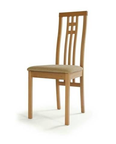Jedálenská stolička AMANDA buk/béžová