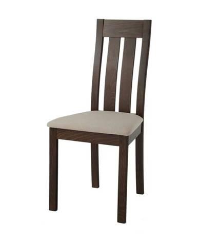 Jedálenská stolička BELA orech/krémová